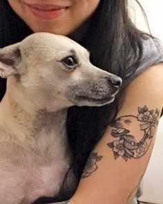 Gotta love a pup portrait tattoo! —Dog tattoo submitted by Vanessa Dong