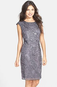 Pisarro+Nights+Embellished+Shift+Dress+available+at+#Nordstrom
