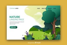 Nature landing page flat design Free Vector Flat Web Design, Ios Design, Dashboard Design, Web Design Trends, Page Design, Adobe Illustrator, Pag Web, Free Vectors, Webdesign Layouts
