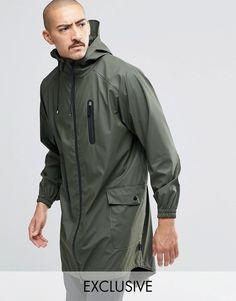 Image 1 ofRains Waterproof Parka Coat In Green