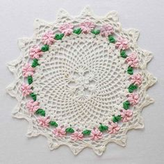 """Watch Maggie review these beautiful Vintage Floral Doilies! Edited By: Maggie Weldon Skill Level: Intermediate Sizes: Shell Rose - About 14"""" diameter. Tea Rose Ring - About 12"""" diameter. Daffodil - Ab"""