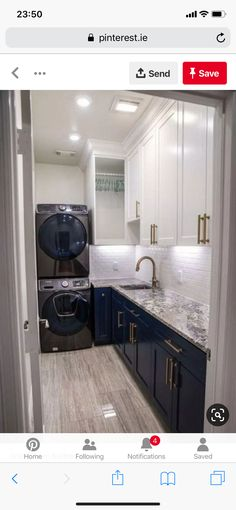 New Kitchen Design Vintage Laundry Rooms Ideas Modern Laundry Rooms, Laundry Room Layouts, Laundry Room Cabinets, Basement Laundry, Laundry Room Organization, Laundry Room Design, Bathroom Cabinets, Bathroom Marble, Bathroom Faucets