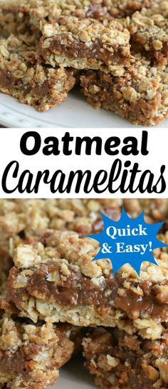 Quick & Easy Oatmeal Caramelitas ~ http://www.southernplate.com