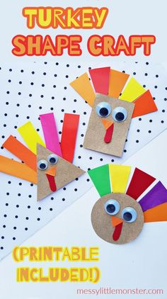 Help preschoolers learn shapes with this adorable shape turkey craft! As well as being a perfect Thanksgiving craft for toddlers and preschoolers this turkey craft would be fun to make as part of… More