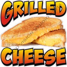 """7"""" Grilled Cheese Sandwich Restaurant Concession Trailer Fast Food Truck Decal"""