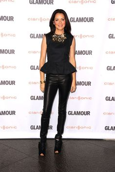 Peplum top and leather leggings all available soon at thonbs