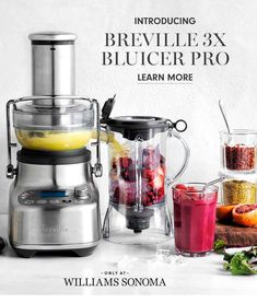 This is Bluicer. A new category of kitchen appliance that's saves space and solves your dilemma of whether to get a juicer or blender. Blood Orange Margarita, Centrifugal Juicer, Electric Juicer, Marble Games, Green Smoothie Recipes, Smoothies, Unsweetened Coconut Milk, Frozen Cocktails, Simple Machines