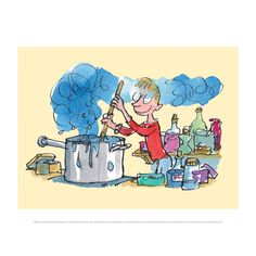 George's Marvellous Medicine mini poster, featuring Roald Dahl's much-loved character as illustrated by Quentin Blake