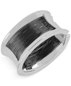 Robert Lee Morris Soho Silver-Tone Wire-Wrap Bangle Bracelet