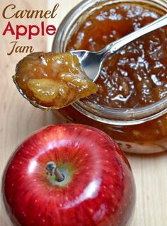 a Latte' with Ott, A: Holiday gift: Carmel Apple Jam the best jam ever Jelly Recipes, Jam Recipes, Canning Recipes, Fruit Recipes, Apple Recipes, Pickles, Canning Food Preservation, Preserving Food, Jam And Jelly