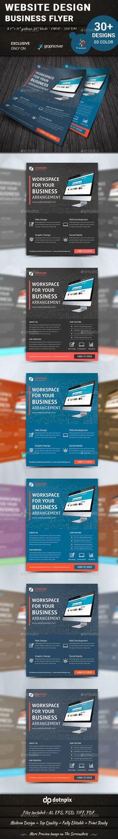 Website Design Flyer Template PSD. Download here: http://graphicriver.net/item/website-design-flyer-volume-3/15419651?ref=ksioks