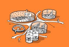 Bubble Diagram Architecture, Architecture Concept Diagram, Architecture Graphics, Landscape Architecture, Architecture Design, Architecture Sketchbook, Architecture People, Architecture Portfolio, Gothic Architecture
