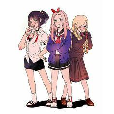 Hinata, Sakura and Ino we need Tenten and Temari Naruto Uzumaki, Anime Naruto, Naruto Comic, Naruto Girls, Naruto Cute, Hinata Hyuga, Naruhina, Naruto And Sasuke, Konoha Naruto