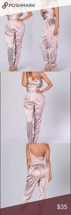 LIGHT PINK SILK JUMPSUIT SEXY ROMPER Gorgeous piece!! One piece ROMPER, so elegant and classy Pants Jumpsuits & Rompers