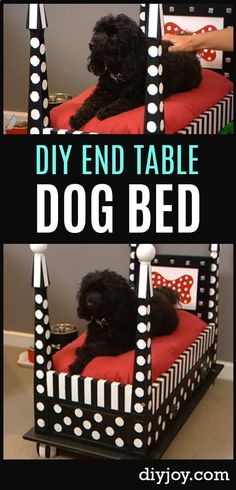 DIY Dog Bed End Table - Cool DIY Projects for Your Pets - Homemade Dog Beds and Other Cute Ideas for Pets projekte hund, Diy Dog Kennel, Diy Dog Bed, Dog Beds For Small Dogs, Cool Dog Beds, Homemade Dog Beds For Large Dogs, End Table Dog Bed, Canis, Diy End Tables, Diy Table