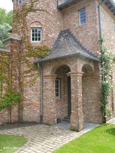 Castle style exterior in brick