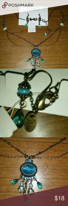 Spotted while shopping on Poshmark: Lia Sophia Necklace and Earrings Set! #poshmark #fashion #shopping #style #Lia Sophia #Jewelry