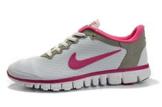 best sneakers d43a1 ea05d White Grey Pink Nike Free 3.0 V2 Running Shoes Running Shoe Shop, Pink Running  Shoes