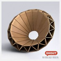 SHOUT is a cardboard chair for kids, designed by Gavin Atkinson, Sue Kim and Gabriela Colon.