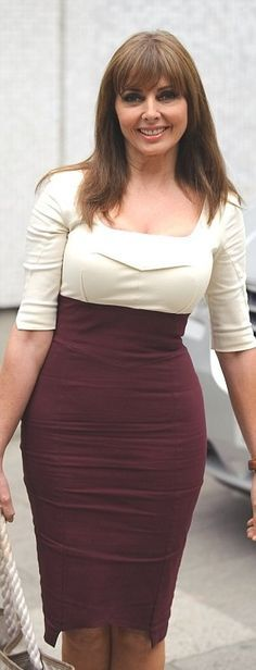 Curvy Woman Ivory and Maroon Dress