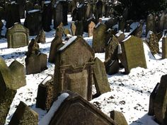 The Old Cemetery in Jewish Quarter, Prague, Czech Republic