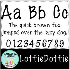 {Free Font} Lottie Dottie! Who doesn't love free fonts!! This download is free for personal and commercial use. However, if you choose to use it for commercial purposes, please make sure to include a link back to my store in addition to my TpT banner. Thank you and I hope you enjoy!!