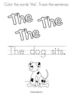 12 Best Sight Words images | Sight words, Words, Coloring ...