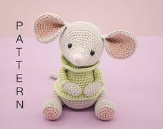 Amigurumi crochet cute mouse - Albert the mouse PATTERN ONLY (English)