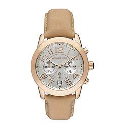 Michael Kors Mercer Chronograph Leather Watch