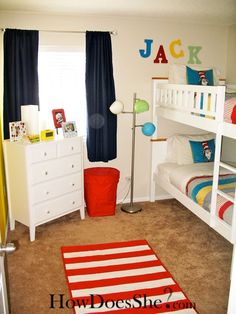 Dr. Seuss room. I completely love this. We actually considered doing a Dr Seuss room for Claire. If the next baby is a boy, this is for sure what I'm doing :)