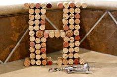 Wine Corks.   I wanna do my initals with it