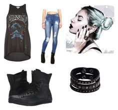 """""""Punk Rock"""" by agentph22 ❤ liked on Polyvore featuring moda, Converse, River Island ve Replay"""