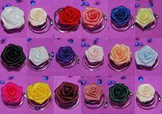 6 Rosen Curlies in verschiedenen Farben von fashion-dekoatelier auf DaWanda.com