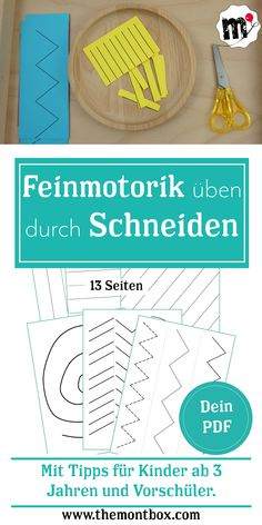 Super für Kinder ab c… Great fine motor exercise. Simply print and get started. Great for kids from about 3 years. With helpful tips for preschoolers. Get the 13 pages of snippet fun for your child. Kindergarten Lesson Plans, Kindergarten Activities, Summer Activities, Family Activities, Toddler Activities, Kindergarten Architecture, Art Education Lessons, Blog Love, Toddler Preschool