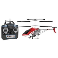World Tech Toys Spy Hercules Unbreakable Remote Control Camera Helicopter, Red