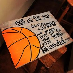 Basketball with bible verse - Inspirational canvas boards - Sport Sport Basketball, Basketball Room, Basketball Motivation, Basketball Gifts, Basketball Cookies, Softball Gifts, Basketball Design, Cheerleading Gifts, Basketball Birthday