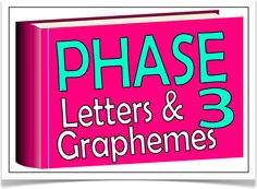 This free set consists of all the letters and graphemes for Phase 3 from the Letters and Sounds phonics programme. All letters and graphemes appear on a pink 3D book, size A5. Visit our website for more information and for other printable resources by clicking on the provided links. Designed by teachers for Early Years (EYFS), Key Stage 1 (KS1) and Key Stage 2 (KS2).