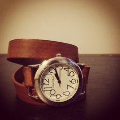 Leather wrap watch.