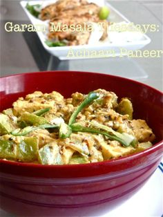 another paneer recipe, Achari Paneer