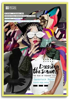 """Poster / Visual identity for """"Dressing the Screen"""" exhibition / D&AD In Book Award 2014 / SHONSKI art and design studio"""