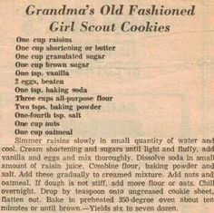 Grandma's old fashioned girl scout cookies