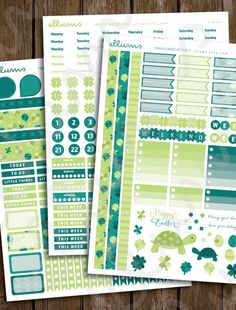 Printable March Planner Stickers Instant Download by ellums