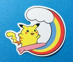 Pokemon Go Party Beer Drinking Pikachu Skateboard Laptop Phone Decal Sticker