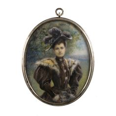 Ralph G. Miller (ca. ~ watercolor on ivory Miniature Portraits, Best Fruits, Historical Society, Ephemera, Ivory, Victorian, Watercolor, Christmas Ornaments, Holiday Decor
