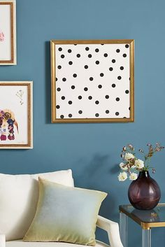 Vintage Dots 1 Wall Art by Artfully Walls in Brown, Decor at Anthropologie Living Room Decor Purple, Wood Sizes, White Wood, Fine Art Paper, Wall Art Decor, Home Furniture, Color Schemes, Gallery Wall, Vintage