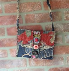 Crossbody Bag Whimsical Artsy Collage Style in by itzaChicThing