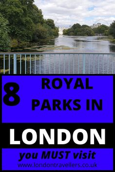 Hyde Park. Green Park. Kensington Gardens. Bushy Park. Richmond Park. Greenwich Park. Regent's Park. St. James' Park. They all have one thing in common. They used to be recreational and hunting grounds for the royal family since the 14th Century. Now, it's for the public to enjoy beautiful colourful flowerbeds, lakes overlooking Buckingham Palace and the London Eye,   and wildlife such as deer. 8 Royal Parks of London | Royal Parks | Parks #royalparks #londonparks #parks #londonattractions Free London Attractions, Travel Themes, Travel Destinations, Greenwich Park, Richmond Park, Green Park, Tourist Places, London Eye