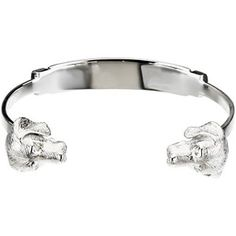 "Sterling Silver/Rhodium Plated Diamond Beagle Bangle Bracelet Gems-is-Me. $438.00. Free Priority Shipping.. This item will be gift wrapped in a beautiful gift bag. In addition, a ""gift message"" can be added."