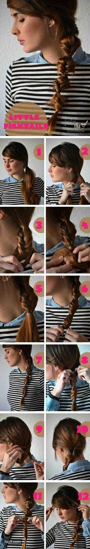 طريقة عمل ظفائر الشعر ذيل السمكة بالصور #تسريحات