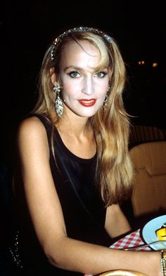 Jerry Hall At The Cannes Film Festival, 1983 Jerry Hall, Great Gatsby Fashion, Gatsby Style, Mick Jagger, Teenage Years, Brigitte Bardot, Cannes Film Festival, Fashion History, Style Icons